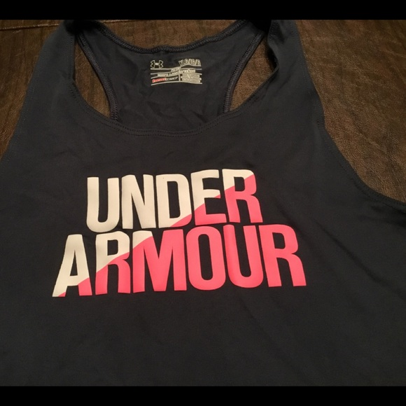 Under Armour Girls Clothing Red Graphic Tank Top Sz YXL